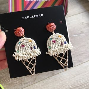 Bauble bar icecream beaded earrings